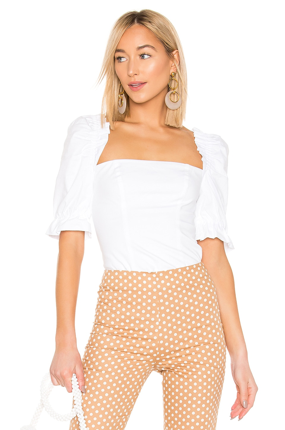 LPA Gemma Top in White