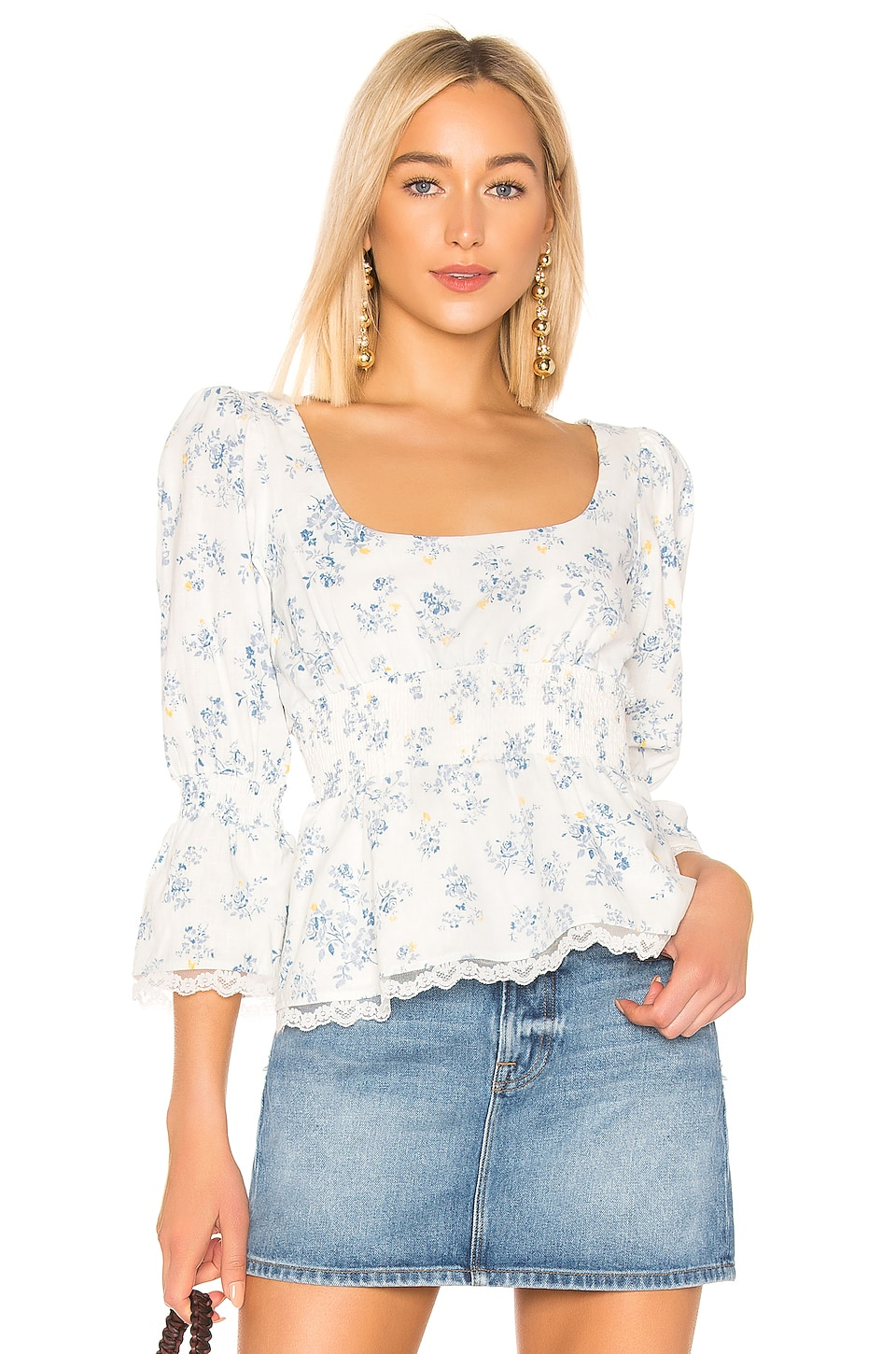 LPA Ester Top in Dee Floral