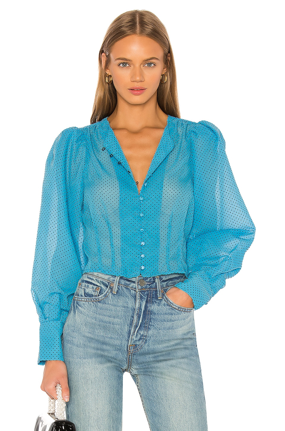 LPA Salma Top in Cerulean Blue