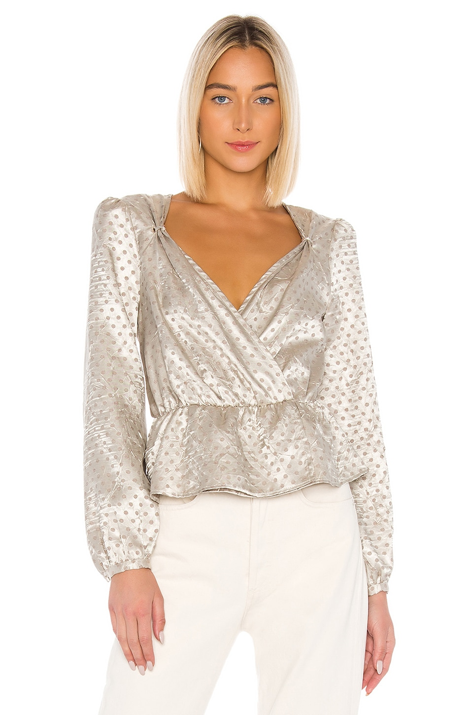 LPA Pinched Shoulder Top in Dusty Gold