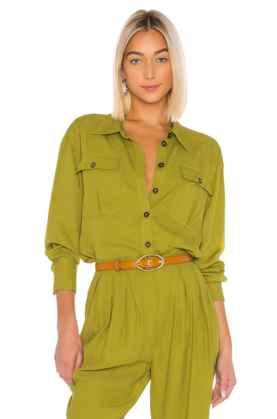 LPA Candace Top in Kermit Green