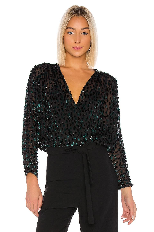 LPA Antonia Bodysuit in Emerald & Black