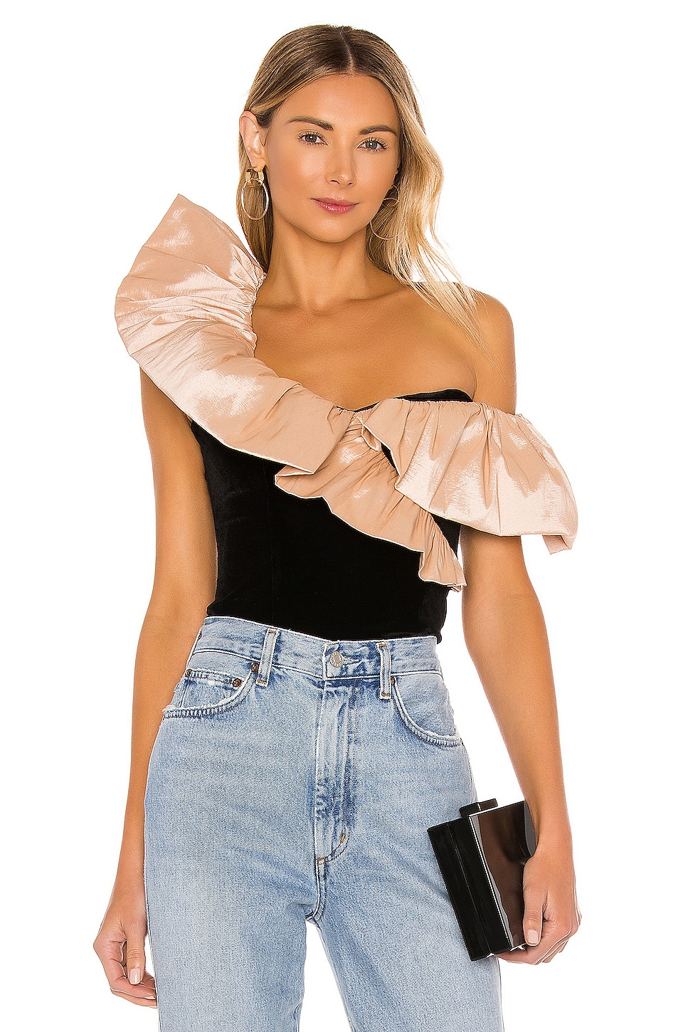 LPA Alexis Top in Black and Nude