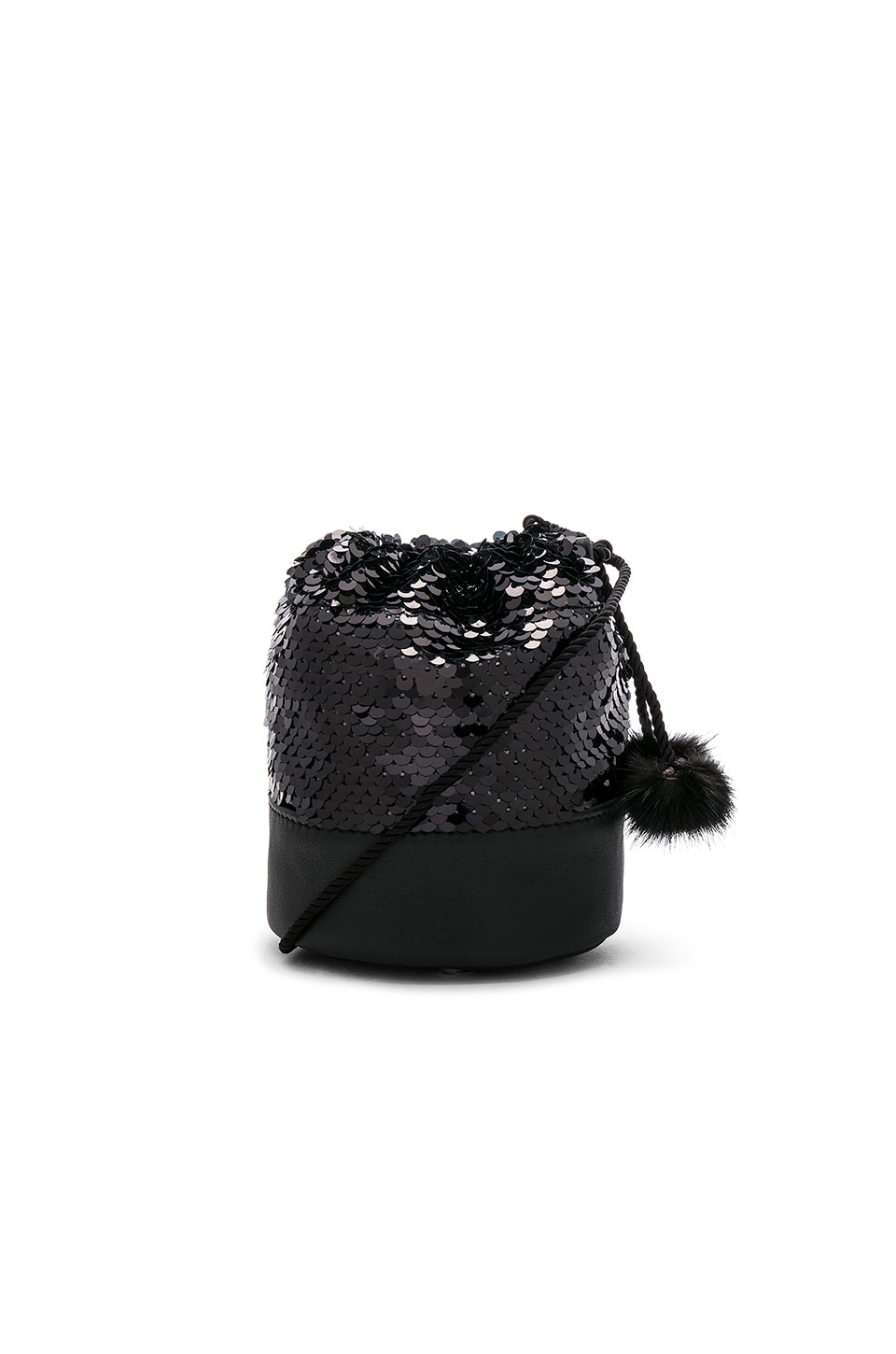LPA Micro Nina Bag in Black Sequin