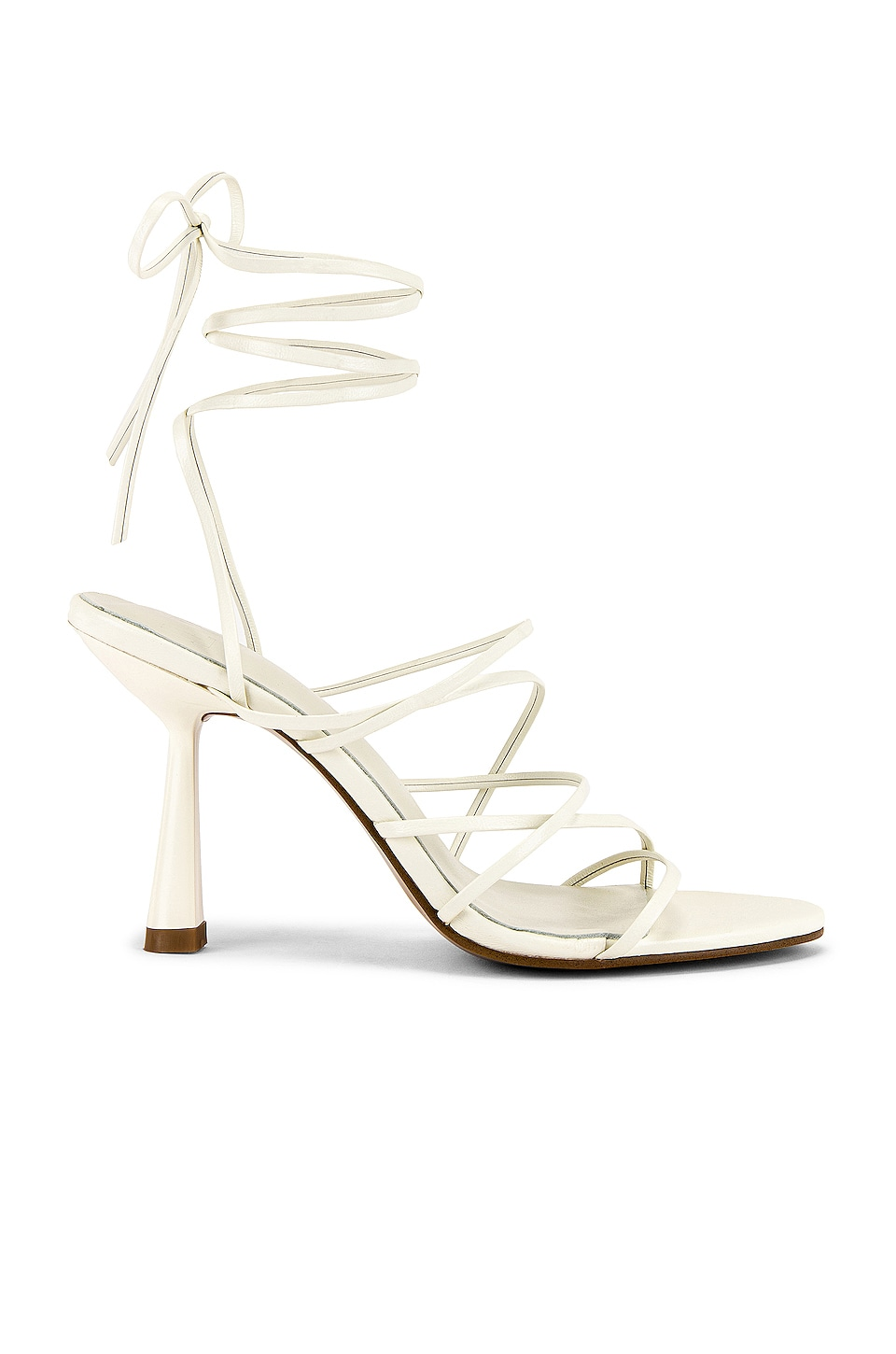 LPA Basile Heel in Bone White