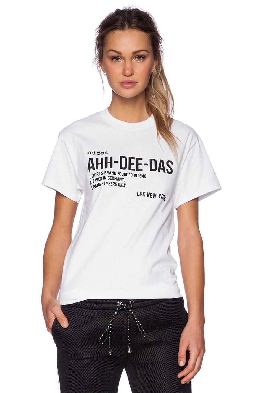 LPD New York x Adidas Ahh-Dee-Das Tee in White