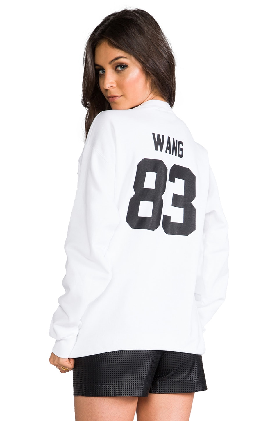 LPD New York LPD NYC Wang Crew Neck Sweatshirt in White