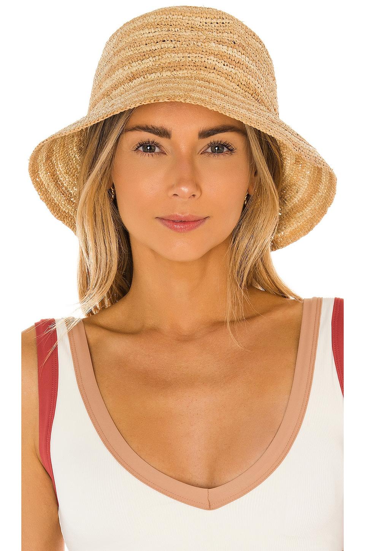 L*SPACE Isadora Hat in Natural Stripe