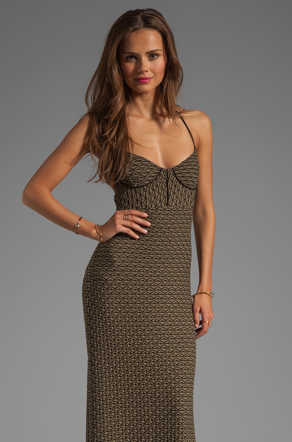 L*SPACE Isabel Maxi Dress in Olive