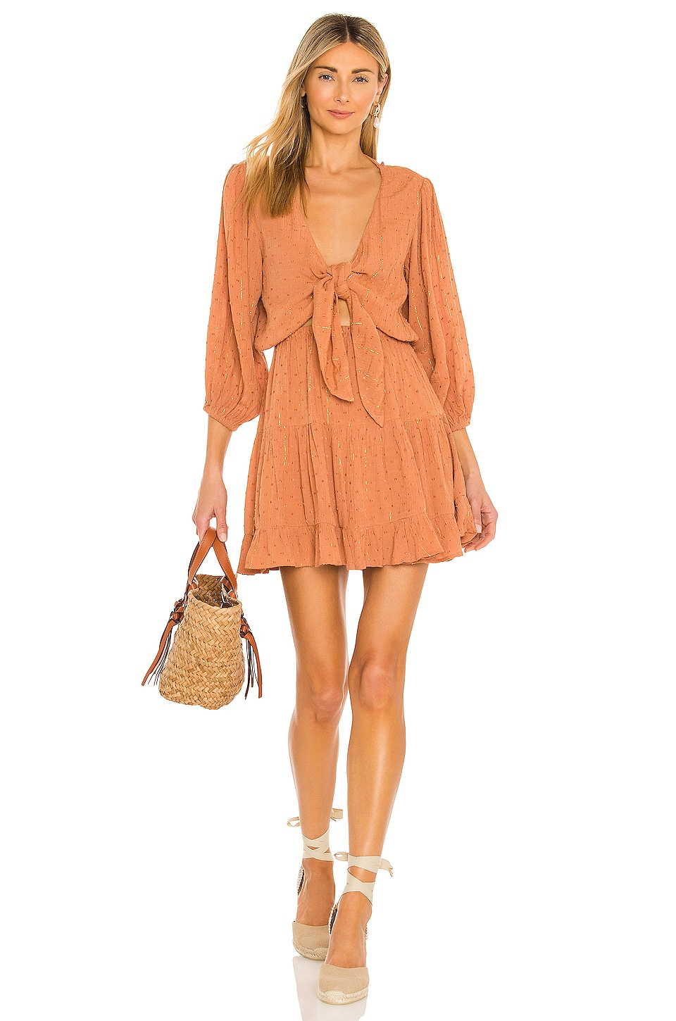 L*SPACE Stay Golden Dress in Putty