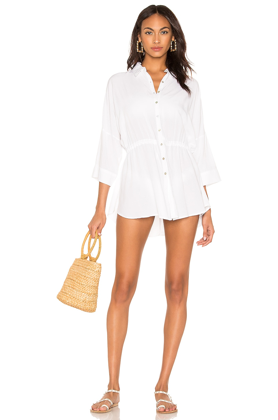 Pacifica Shirt Dress, view 2, click to view large image.