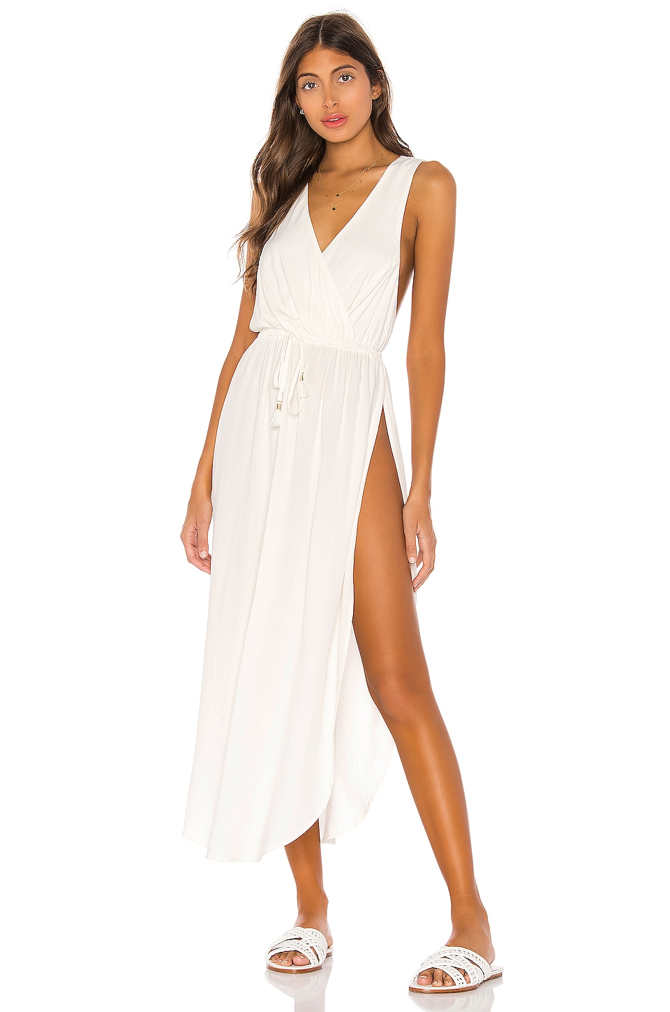 L*SPACE Kenzie Cover Up Dress in Cream