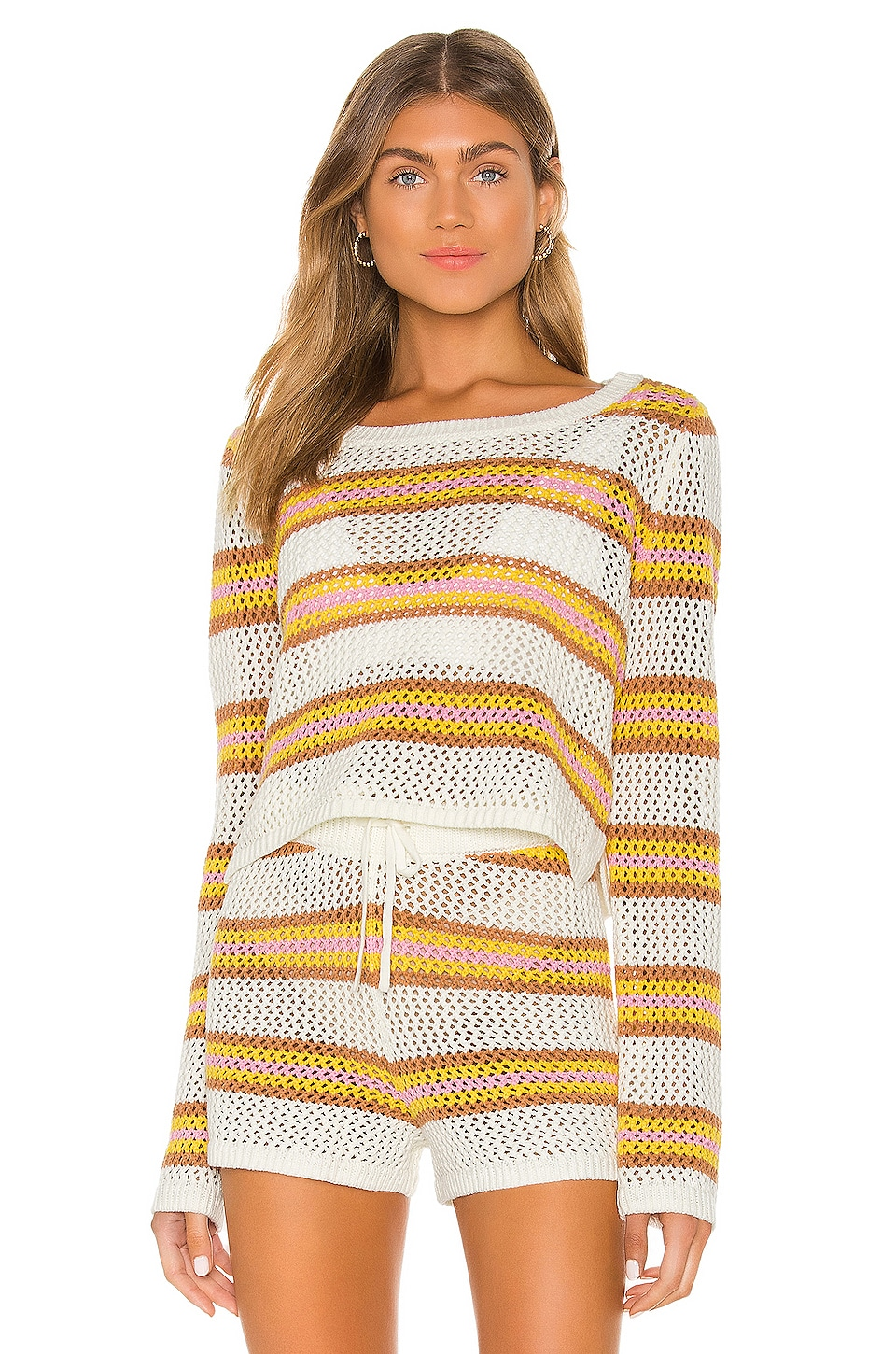 L*SPACE Horizon Sweater in On The Horizon Stripe