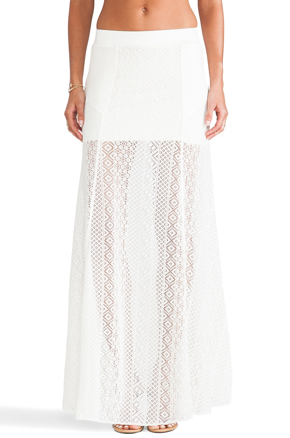 L*SPACE Swept Away Crochet Skirt in Ivory