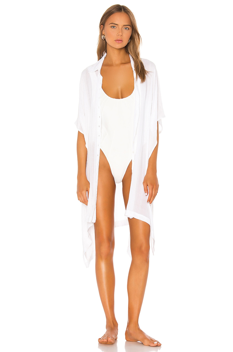 L*SPACE Anita Cover Up in White