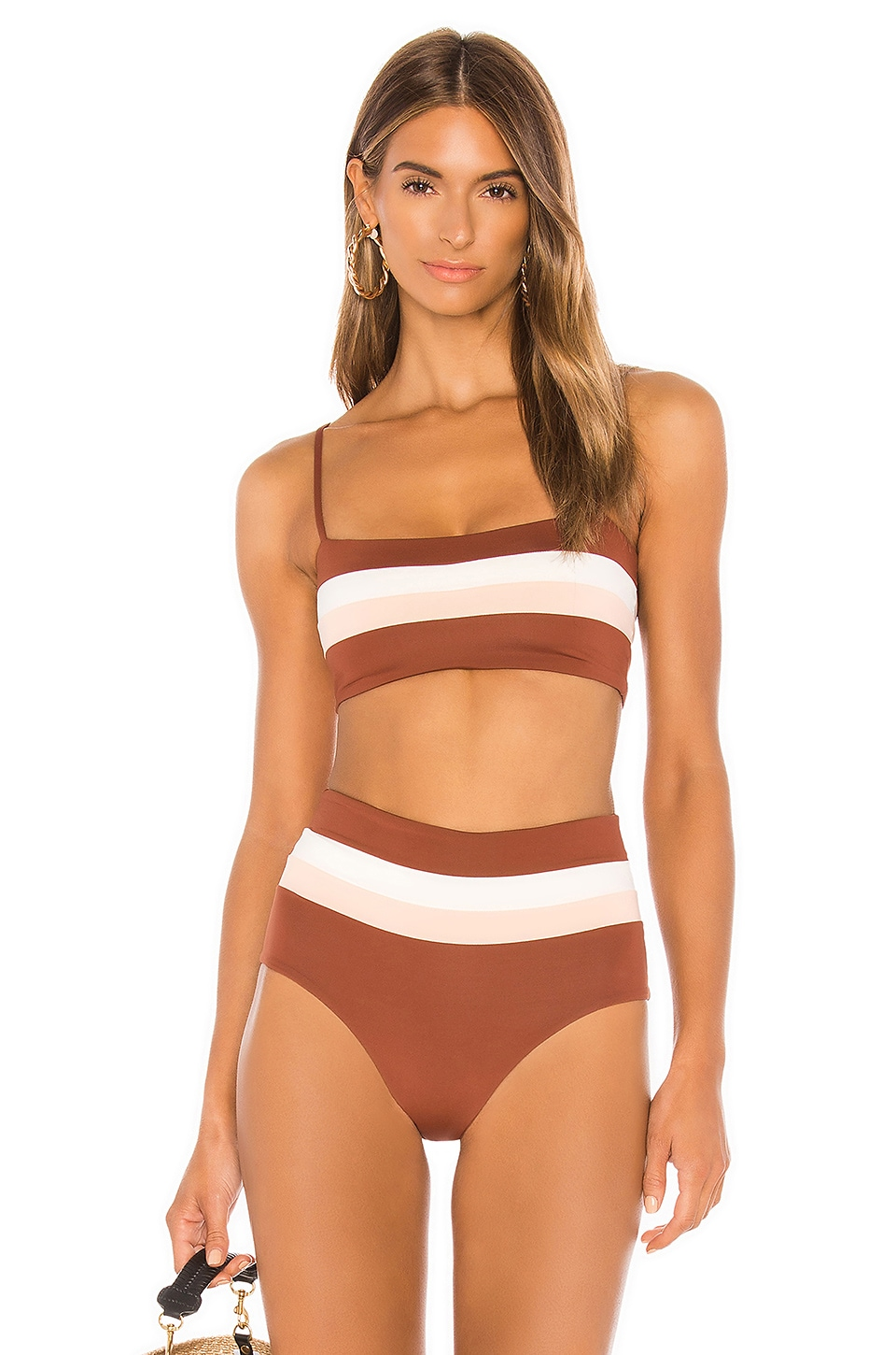 L*SPACE HAUT DE MAILLOT DE BAIN REBEL STRIPE