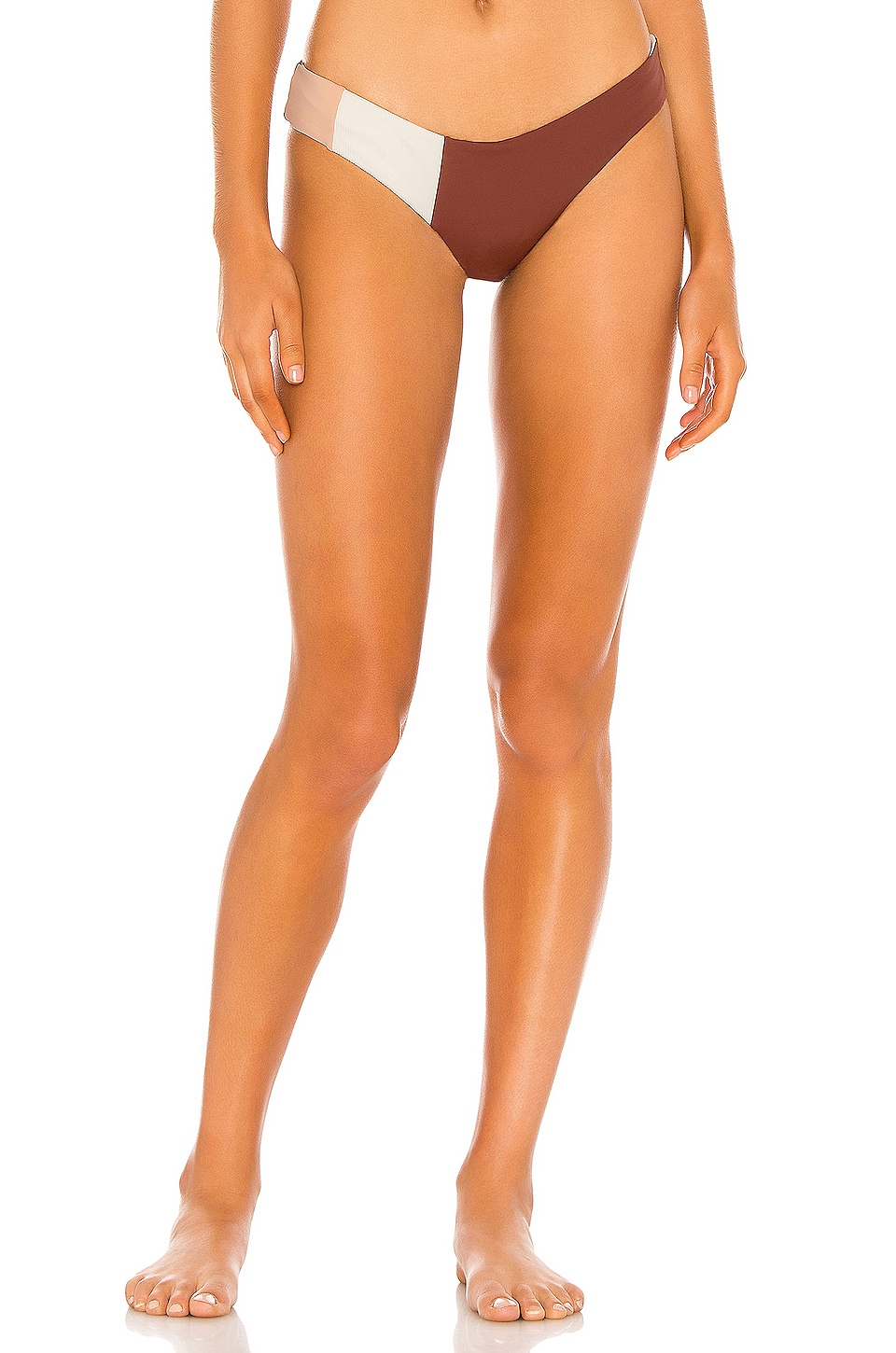 L*SPACE Kas Color Block Classic Bottom in Tobacco