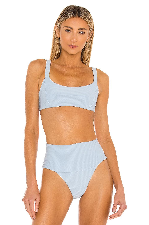 L*SPACE Jess Bikini Top in Sky Blue