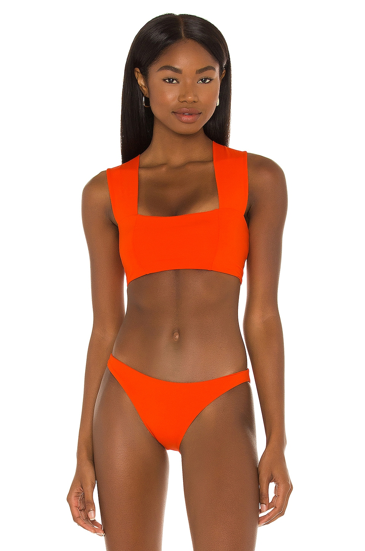 L*SPACE Parker Bikini Top in Poppy