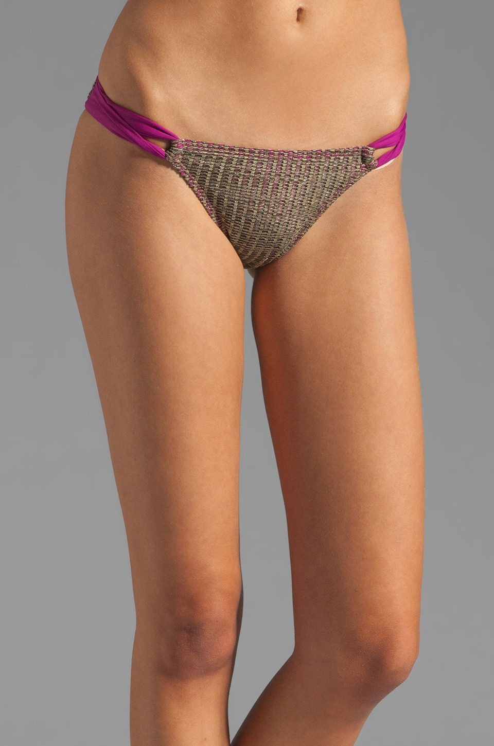 L*SPACE Mas Mesh Taboo Bottom in Berry