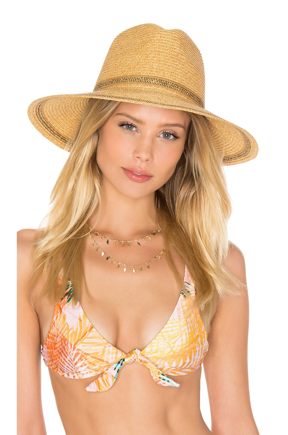 L*SPACE Sunny Days Panama Hat in Natural
