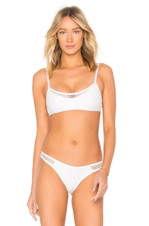 L*SPACE Naomi Bikini Top in White