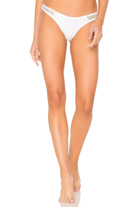L*SPACE Stevie Bikini Bottom in White