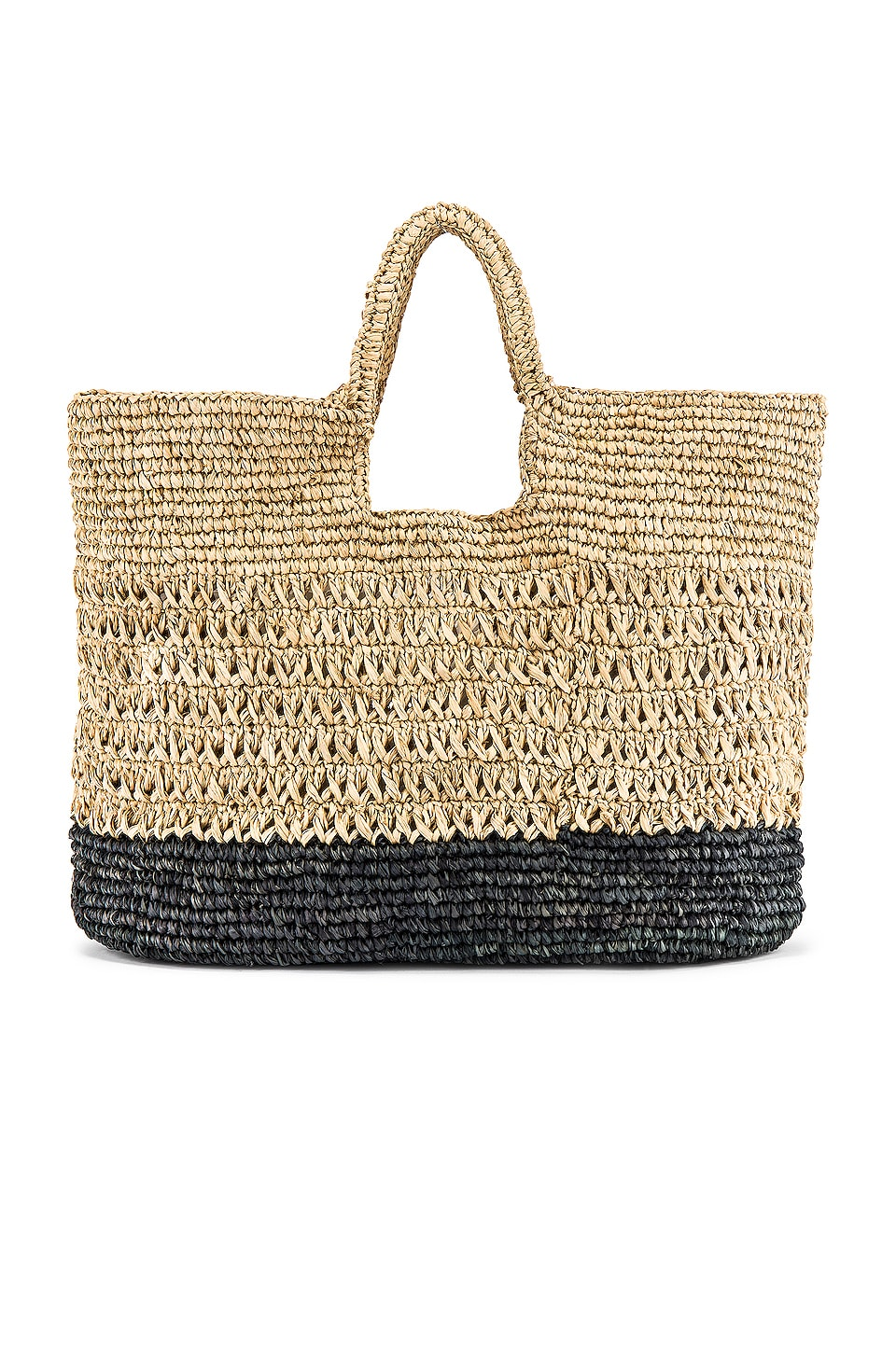 L*SPACE Milano Raffia Bag in Black