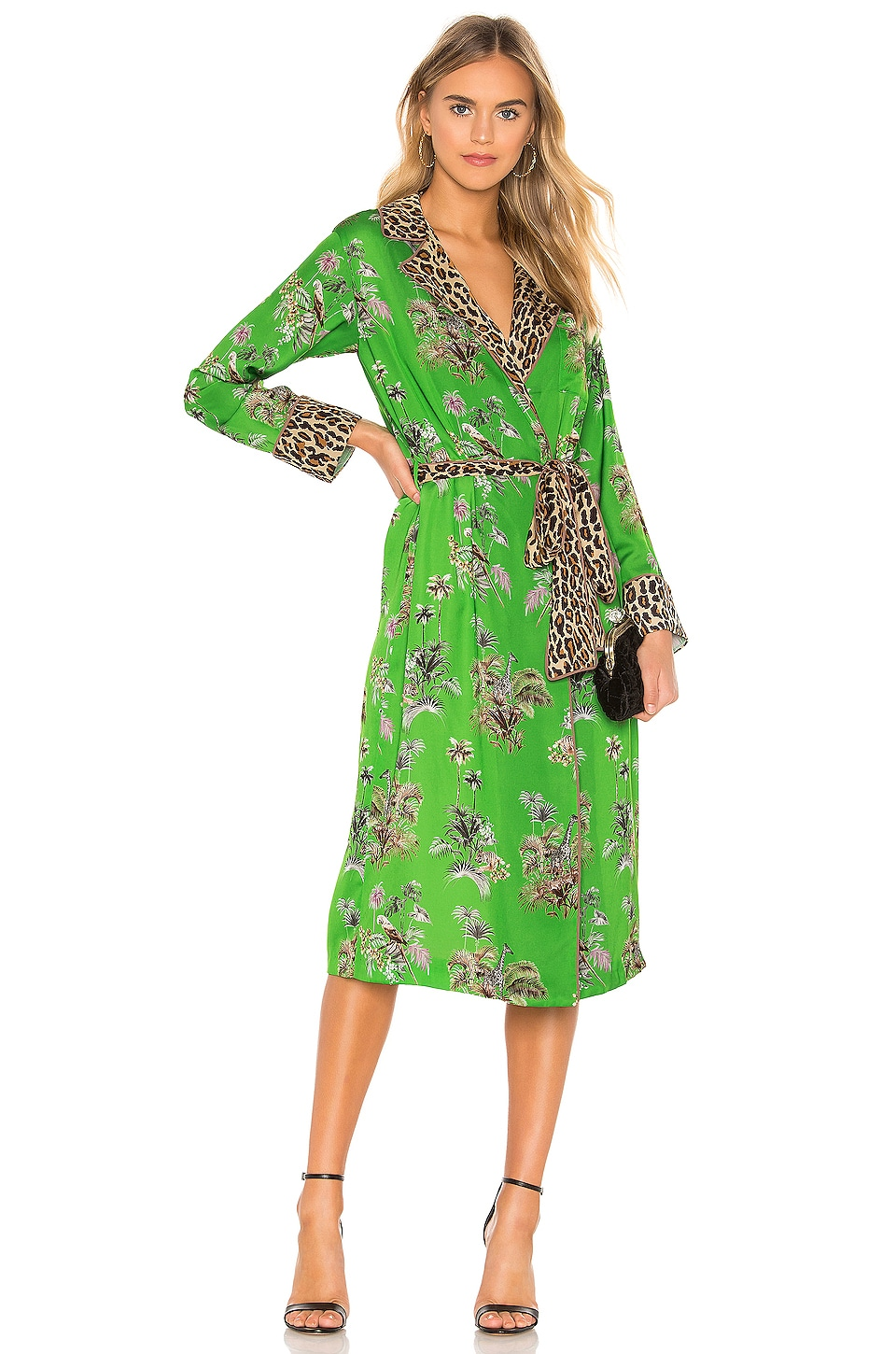 Le Superbe Vacation Robe Dress in Emerald Jungle
