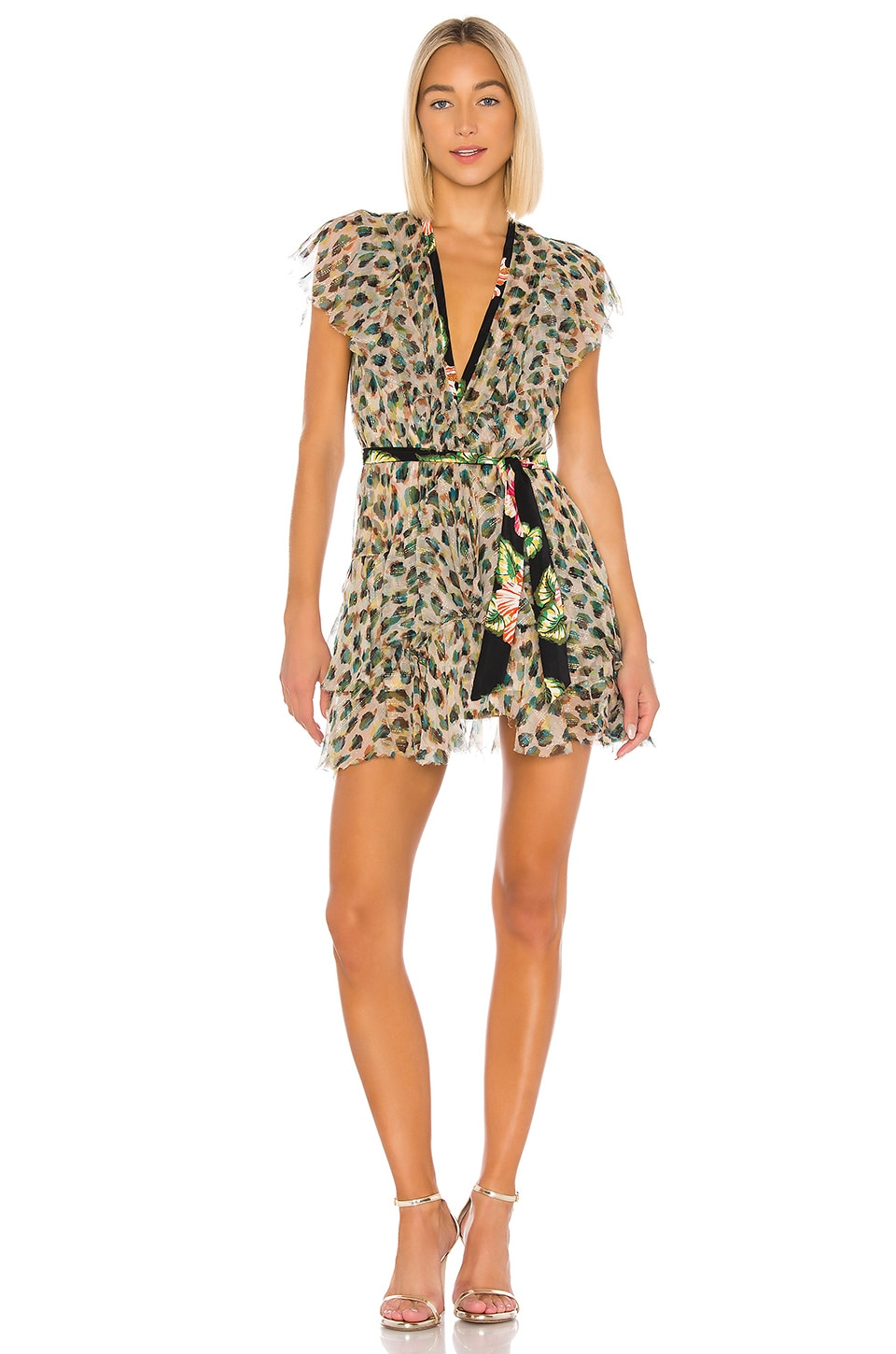 Le Superbe Flirty Leopard Dress in Van Gogh Leopard