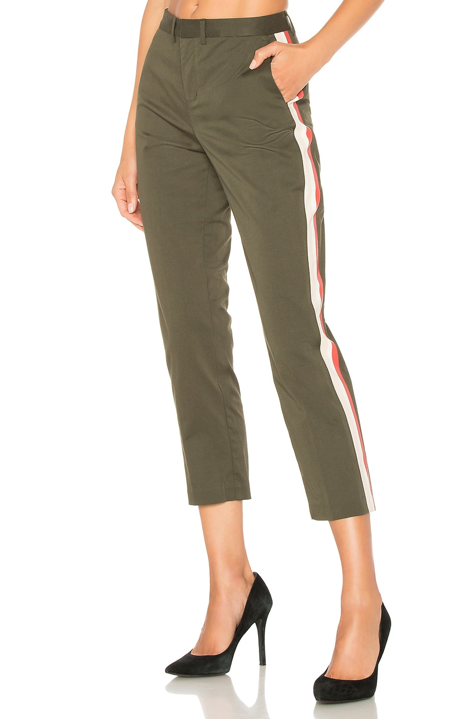 Le Superbe Honore Pant in Dark Olive A
