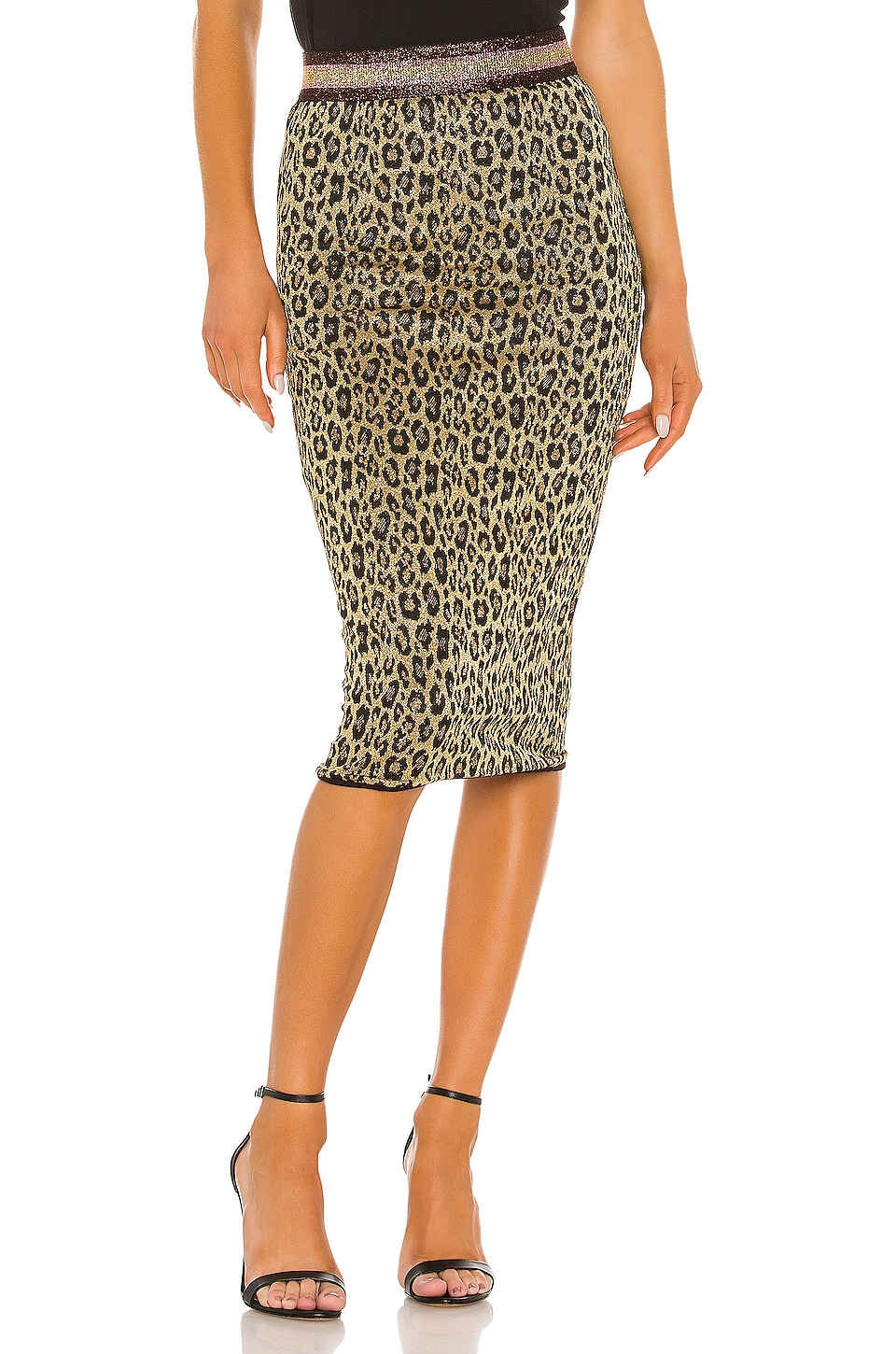 Le Superbe Liza Skirt in Mas Leopard Gold