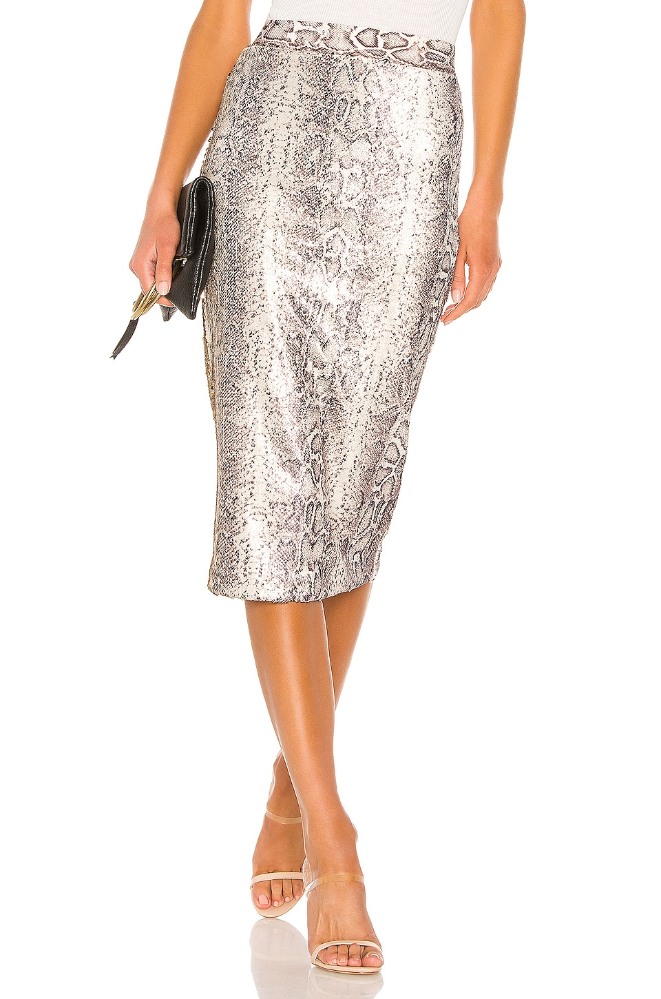 Le Superbe Liza Skirt in Rattler Sequin