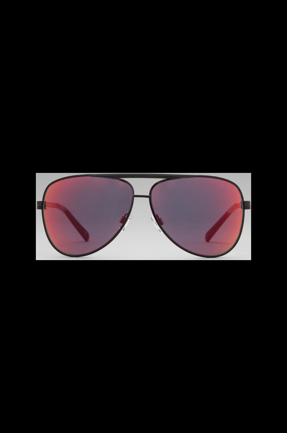 Le Specs Thunderbird in Black/ Red Revo Mirror