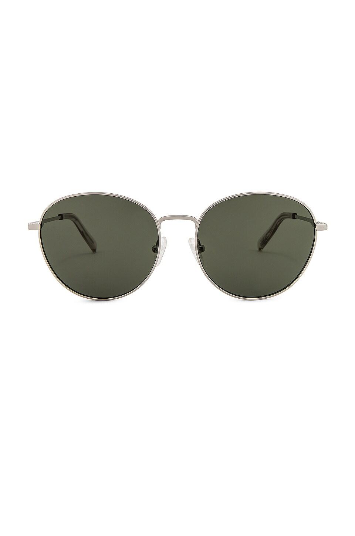 Le Specs Horus in Silver & Khaki Mono