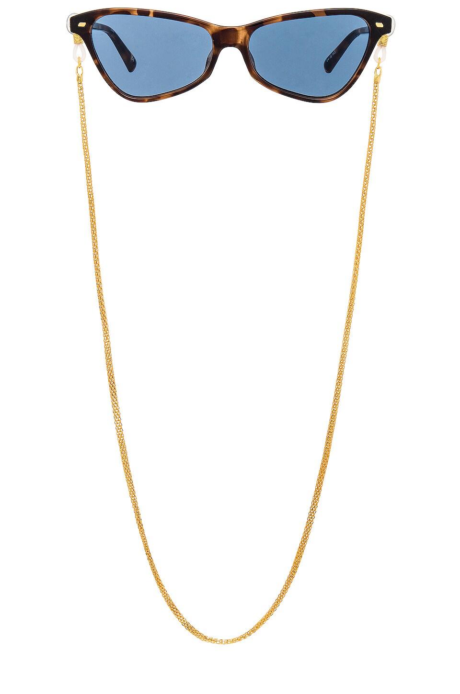 Le Specs Sunglasses Neck Chain in Gold
