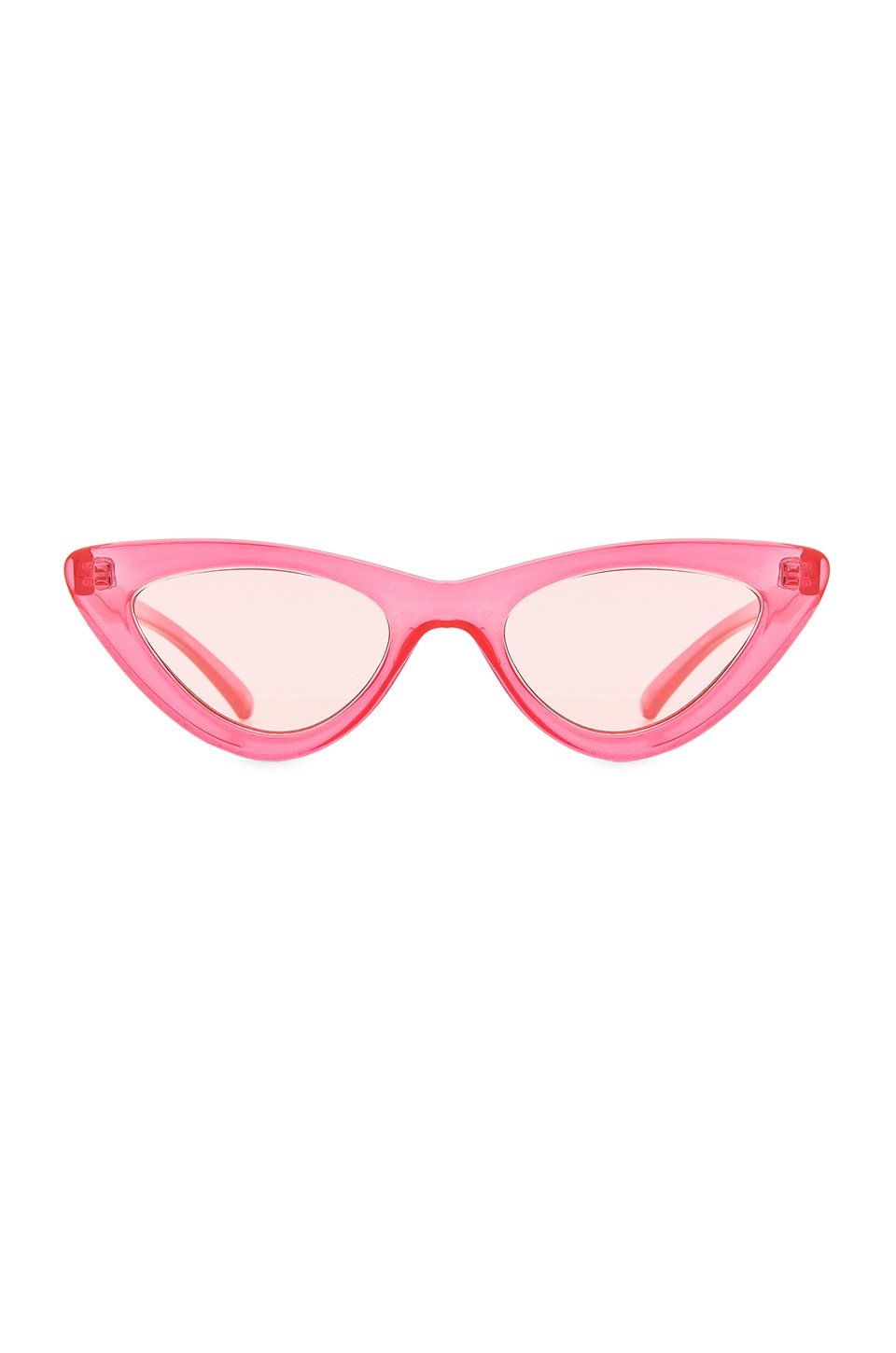 Le Specs x Adam Selman The Last Lolita in Crystal Hot Pink & Pink Mirror