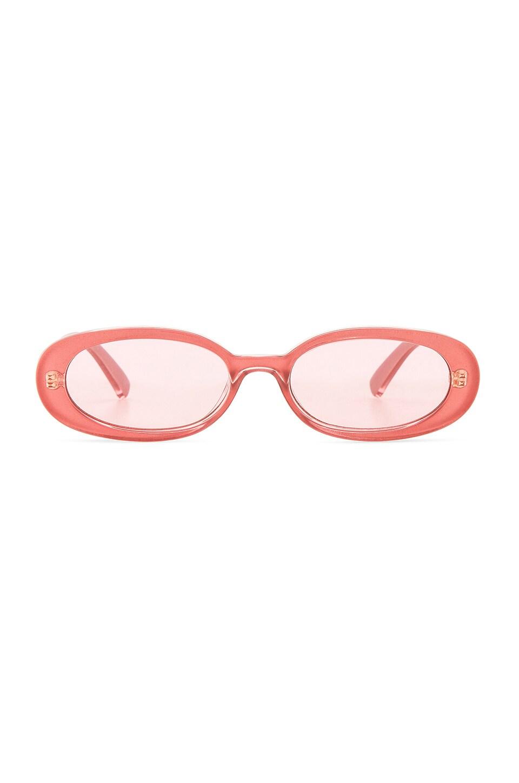 Le Specs x REVOLVE Outta Love in Bubblegum Shimmer