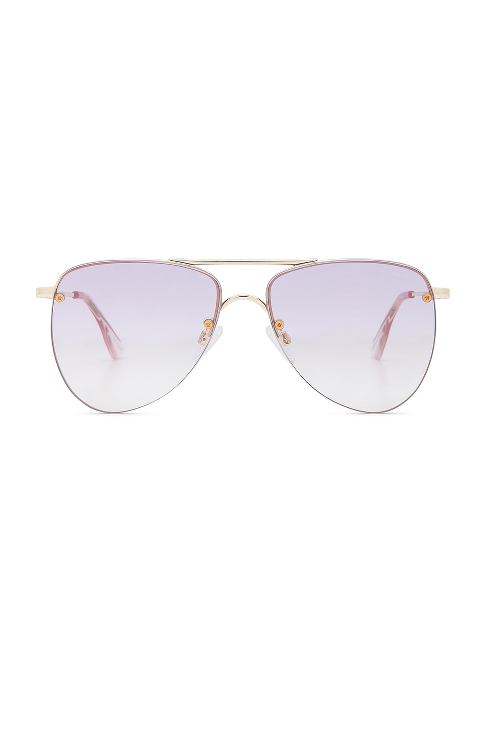 Le Specs The Prince in Gold & Lilac Gradient