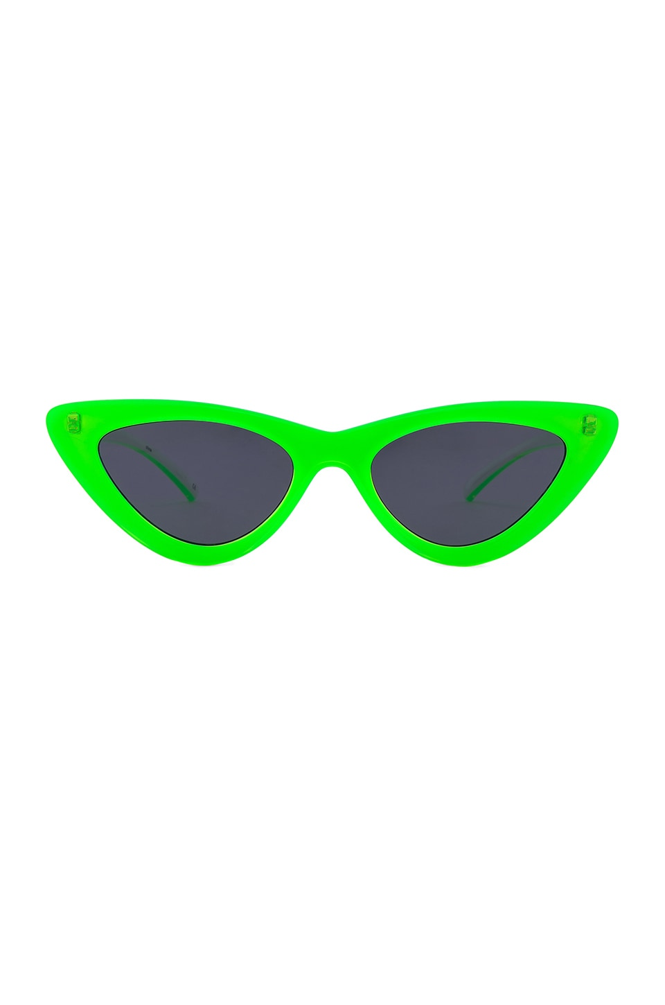 Le Specs x Adam Selman The Last Lolita in Neon Lime & Smoke Mono