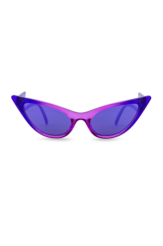 Le Specs x Adam Selman The Prowler in Cobalt Violet Fade & Purple Mirror