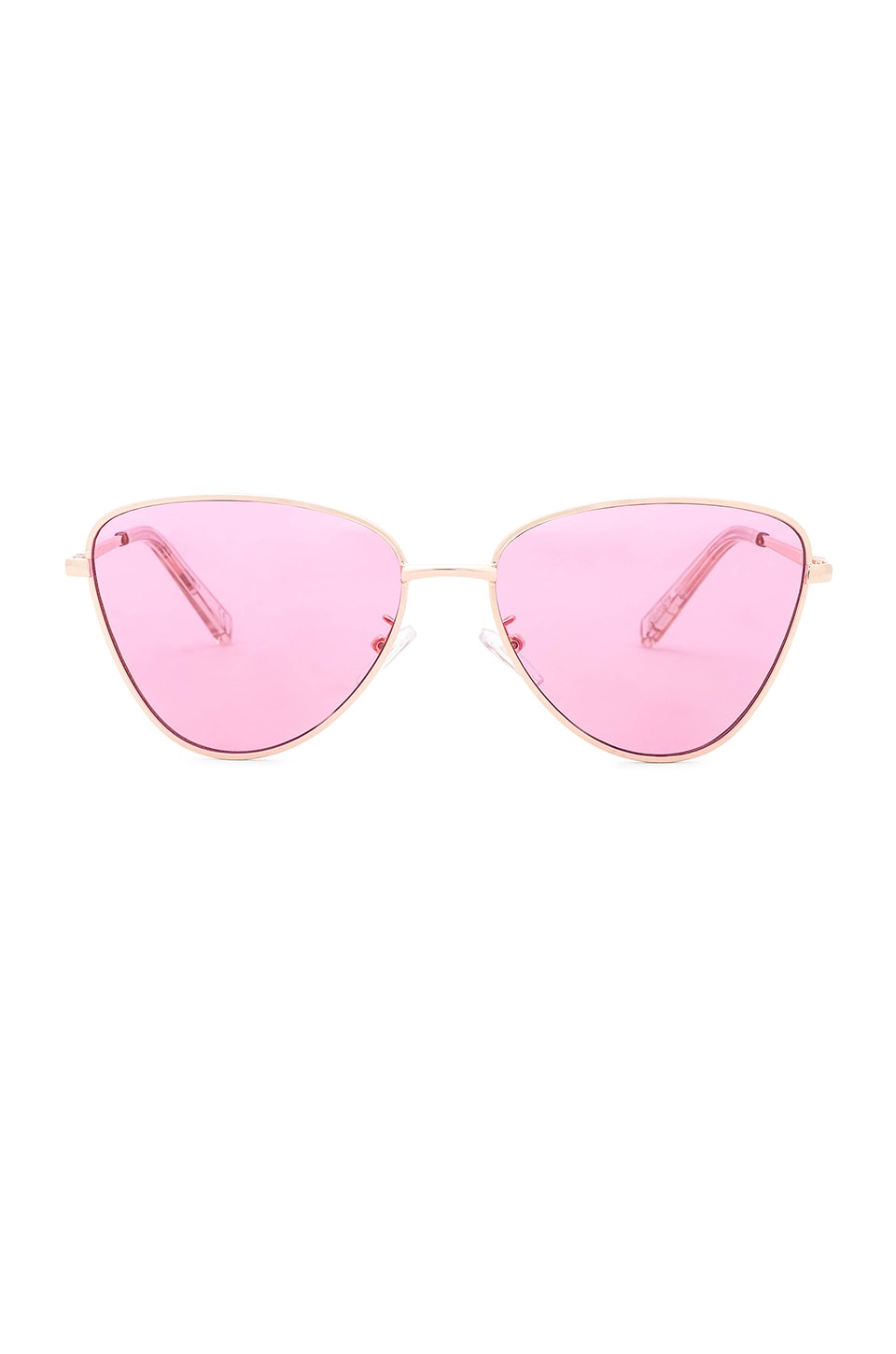 Le Specs x Revolve Echo in Bright Gold & Pink Tint
