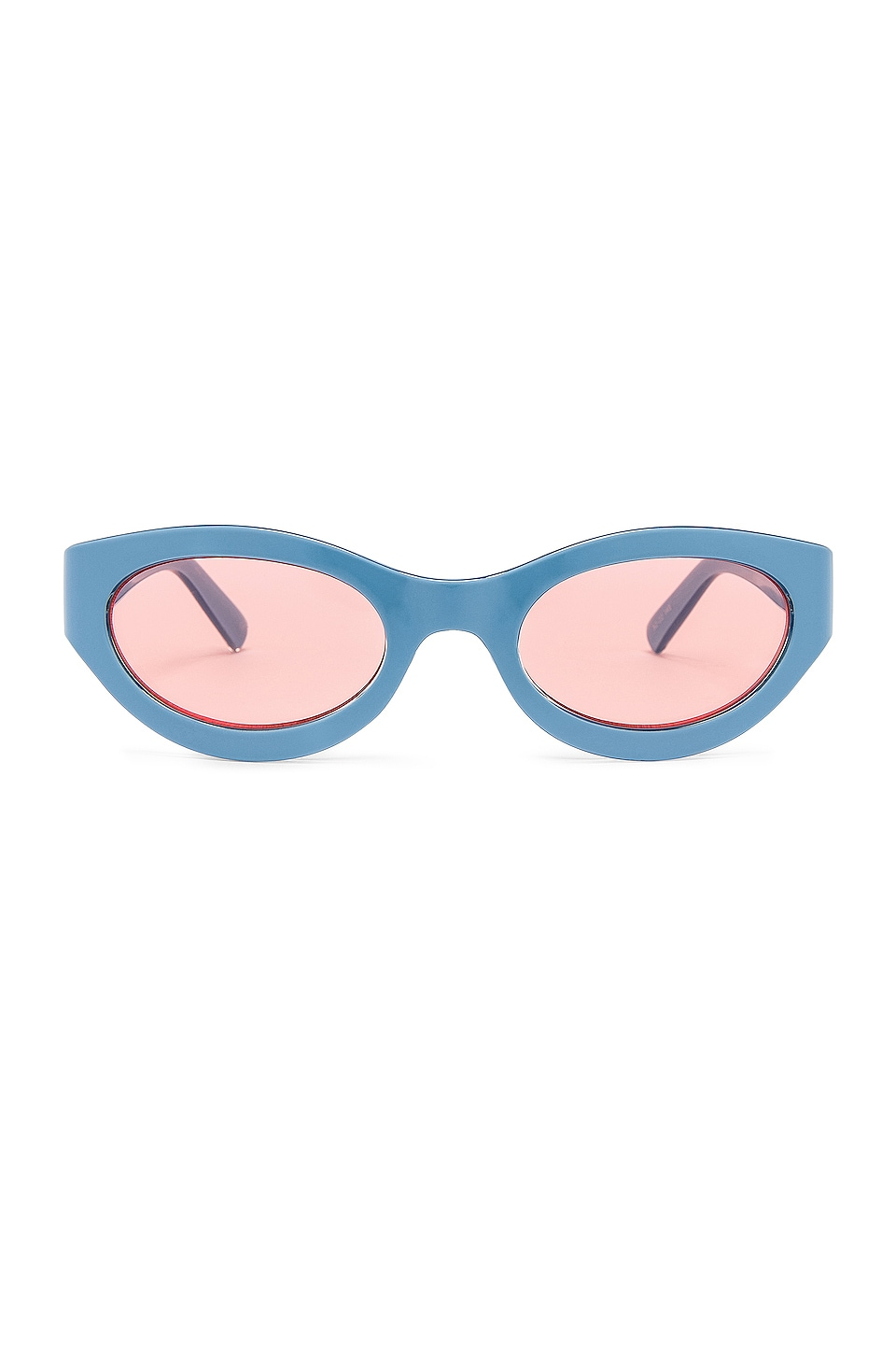 Le Specs Body Bumpin in Powder Blue & Coral Tint