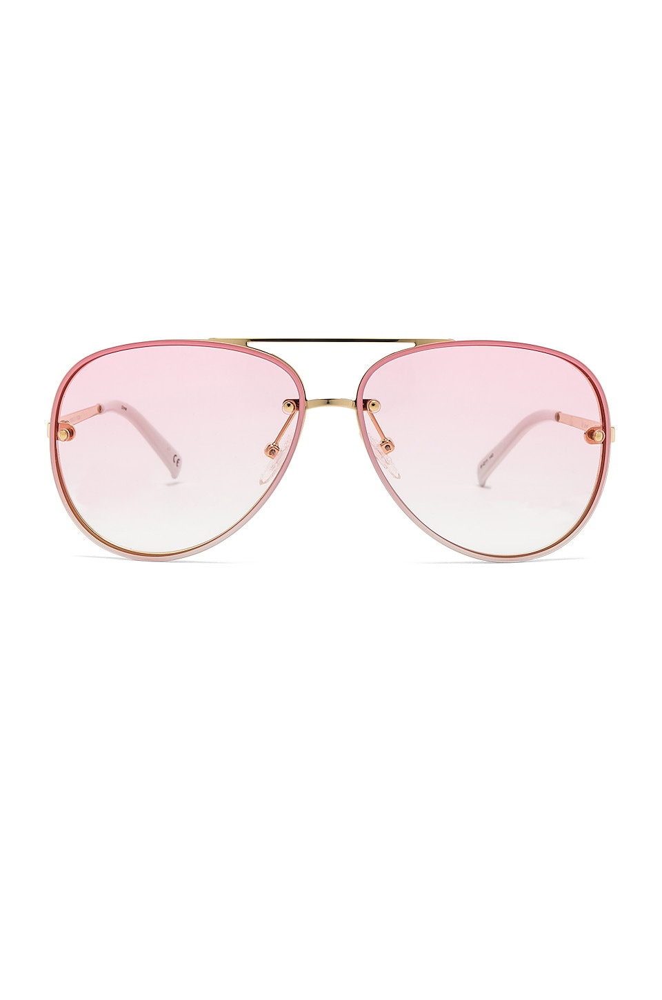 Le Specs Hyperspace in Bright Gold, White & Pink Gradient