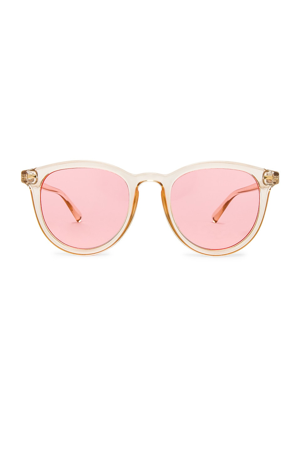 Le Specs Fire Starter in Blonde & Coral Tint