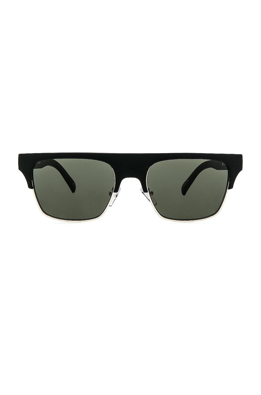 Le Specs Cruel Summer in Matte Black & Khaki Mono