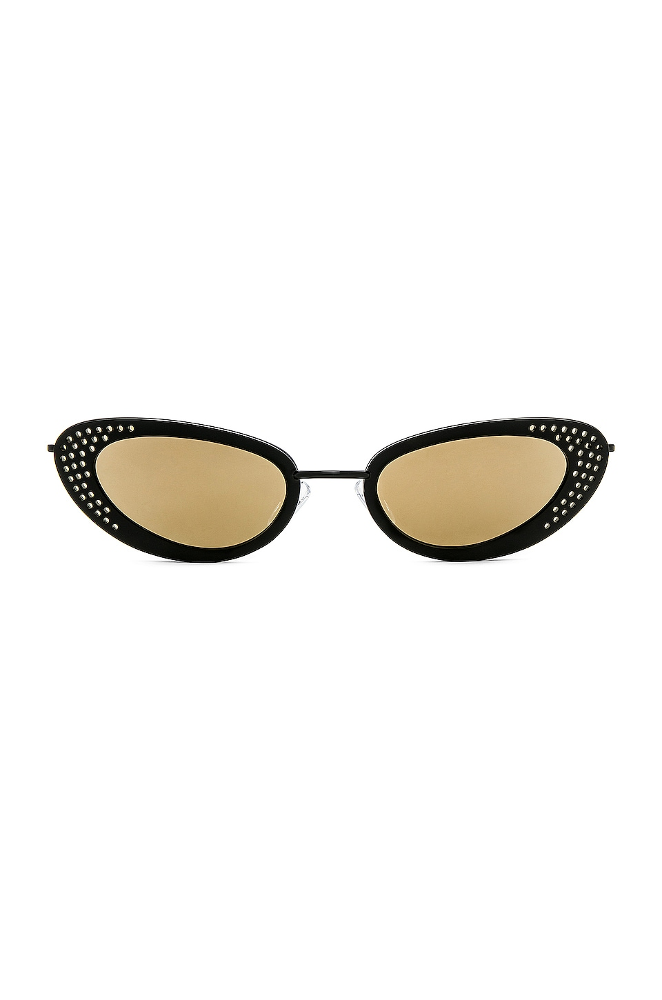 Le Specs x Adam Selman The Royale in Black & Yellow Mirror