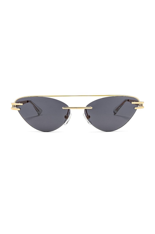 Le Specs x Adam Selman The Coupe in Bright Gold & Smoke Mono