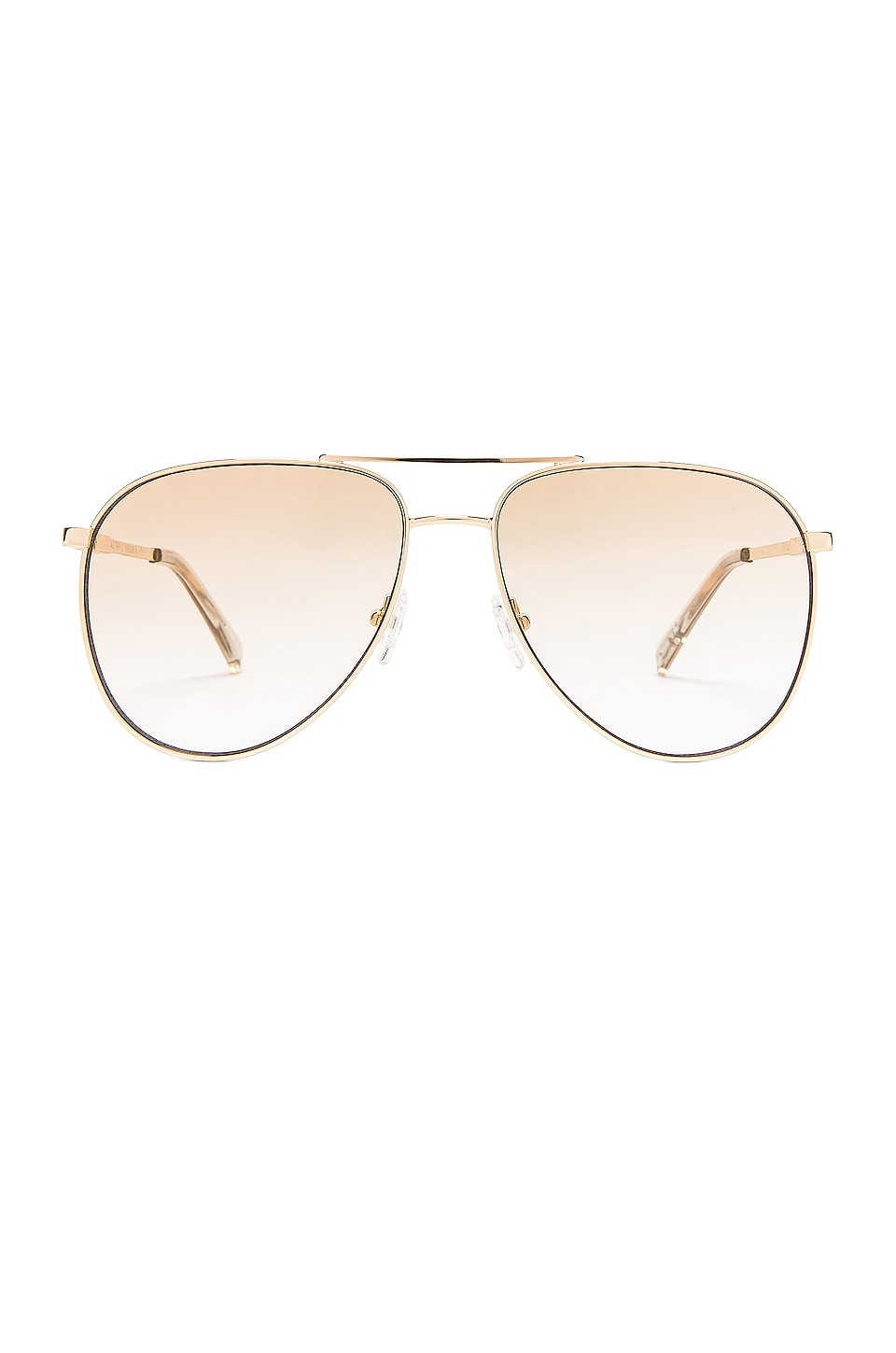 Le Specs Road Trip in Bright Gold & Tan Gradient Flash Mirror