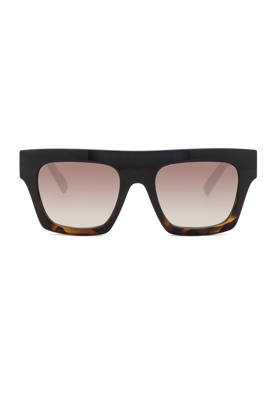 Le Specs Subdimension in Black Tort & Khaki Gradient